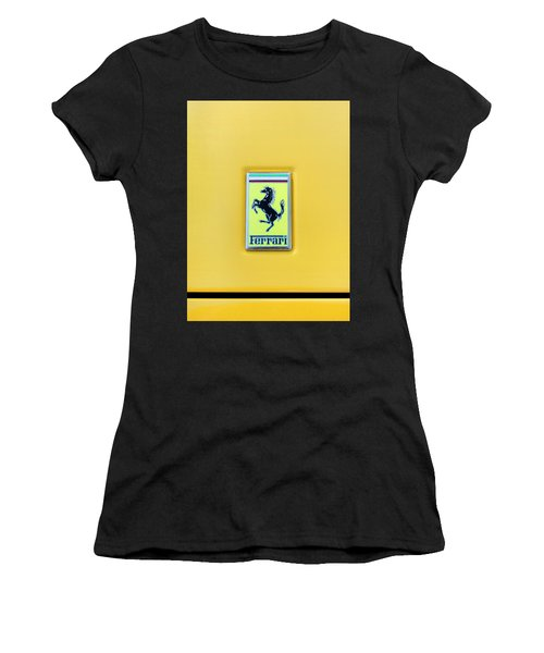 Women's T-Shirt (Junior Cut) featuring the photograph Ferrari Badge by Theresa Tahara