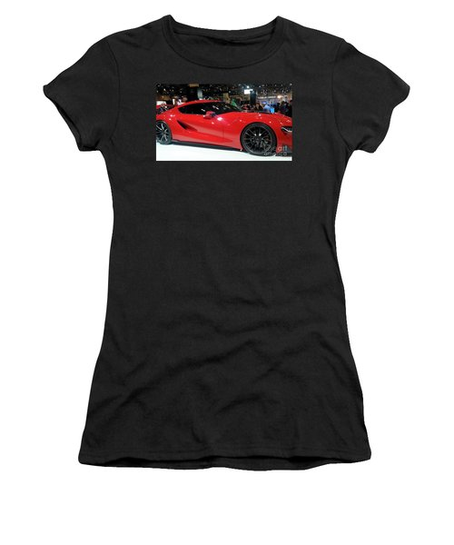 Red Ferrari Women's T-Shirt (Athletic Fit)