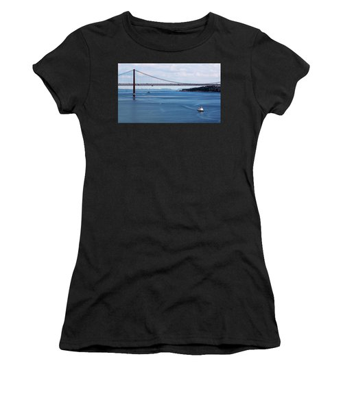 Women's T-Shirt featuring the photograph Ferry Across The Tagus by Lorraine Devon Wilke