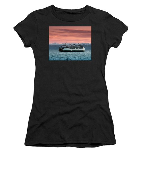 Ferry Cathlamet At Dawn.1 Women's T-Shirt