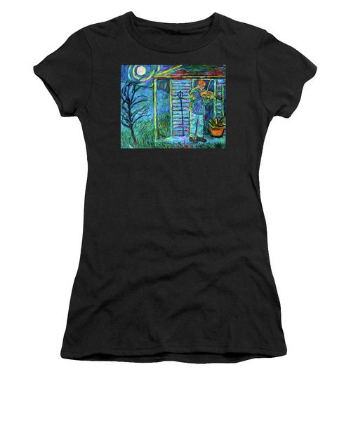 Fiddling At Midnight's Farm House Women's T-Shirt