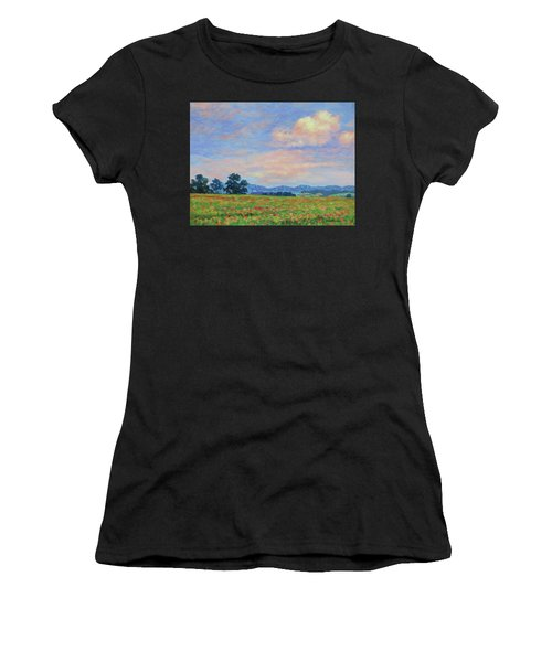 Field Of Flowers- Burkes Garden Fields Women's T-Shirt (Athletic Fit)