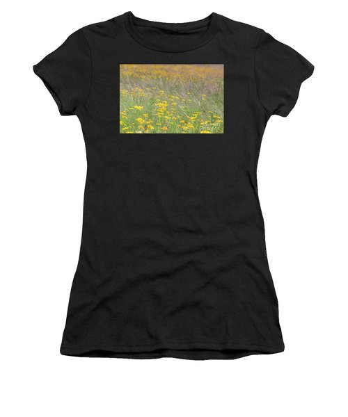 Field Of Yellow Flowers In A Sunny Spring Day Women's T-Shirt