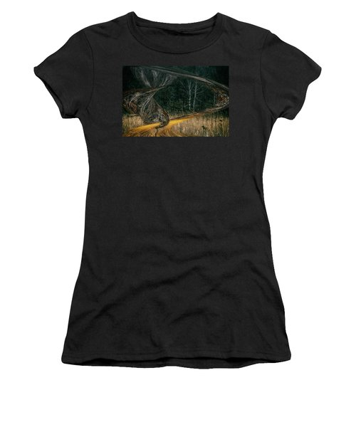Field Warping Women's T-Shirt (Athletic Fit)