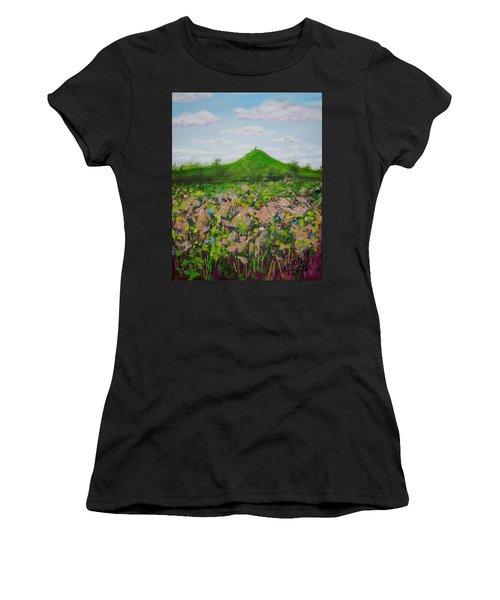 Fields To Glastonbury Tor Women's T-Shirt