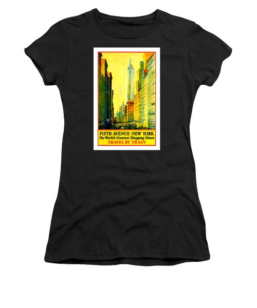 Fifth Avenue New York Travel By Train 1932 Women's T-Shirt (Athletic Fit)