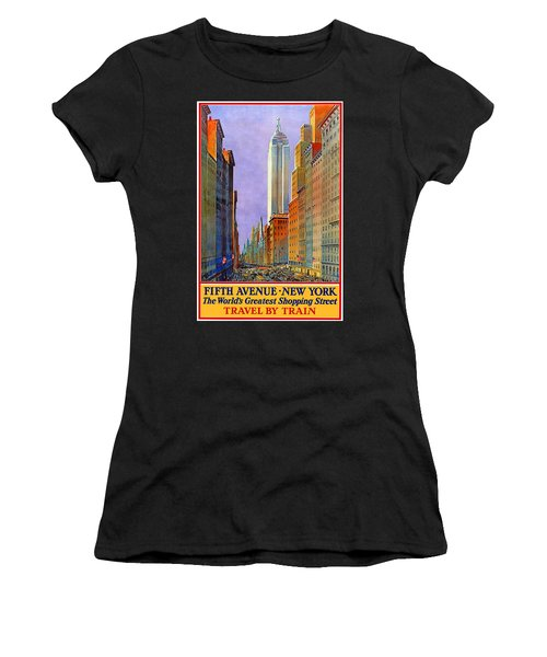 Fifth Avenue New York - Vintage Travel Poster Women's T-Shirt