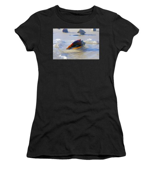 Fighting Conch On Beach Women's T-Shirt
