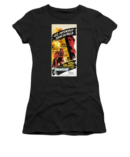 Film Noir Poster   Violent Saturday Women's T-Shirt (Junior Cut) by R Muirhead Art