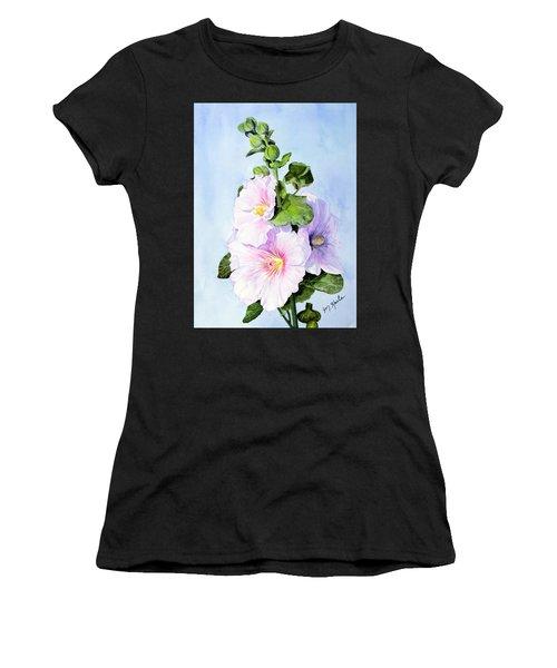 Finally Hollyhocks Women's T-Shirt
