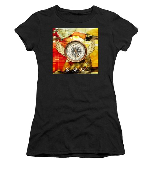 Women's T-Shirt (Athletic Fit) featuring the mixed media Finding Direction by Marvin Blaine