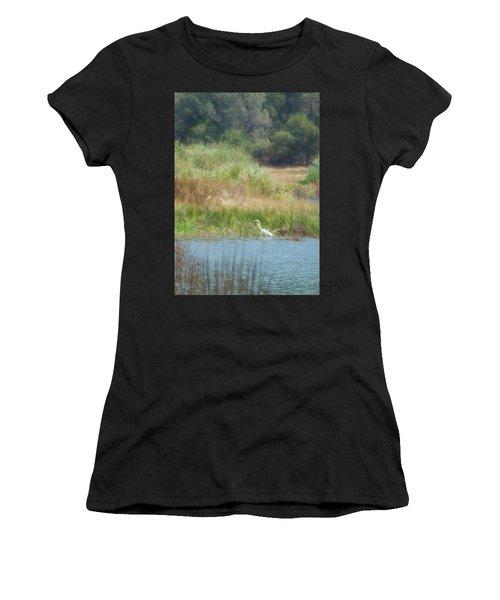 Finnon Lake Egret Women's T-Shirt
