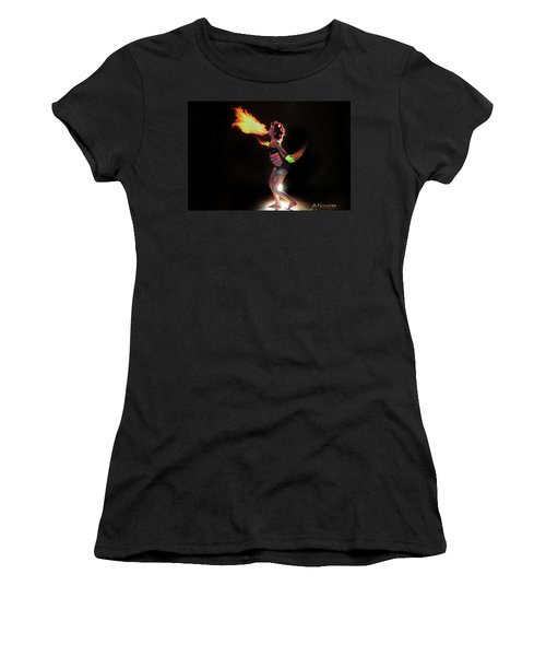 Fire Blowin Women's T-Shirt (Athletic Fit)