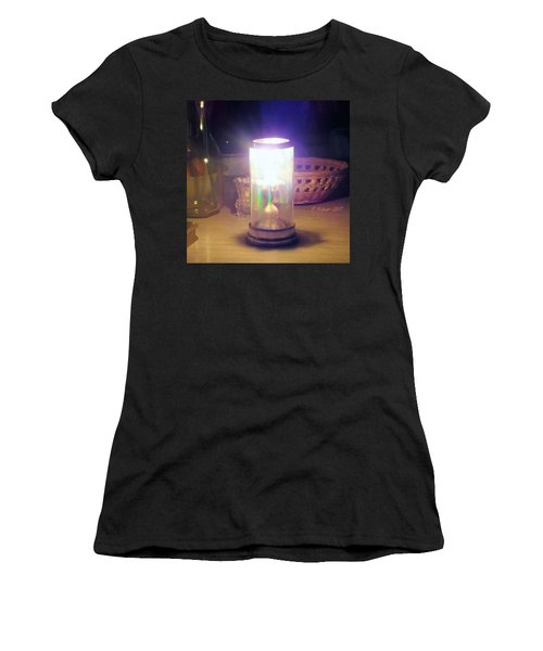 Women's T-Shirt (Athletic Fit) featuring the photograph Fire Dance by Denise Fulmer