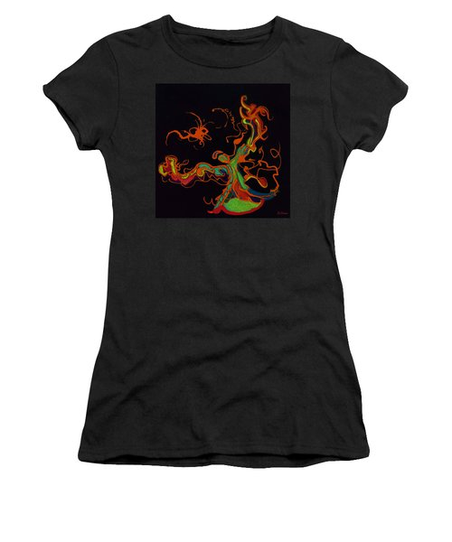 Fire Dancer Women's T-Shirt (Athletic Fit)