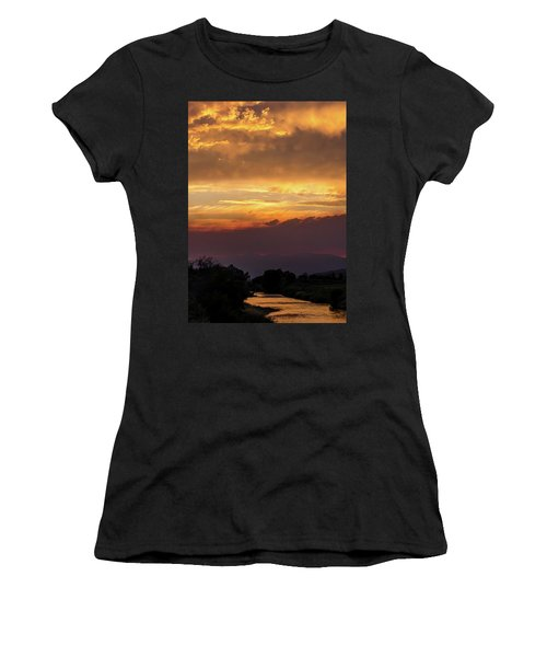 Fire Sky At Sunset Women's T-Shirt (Athletic Fit)