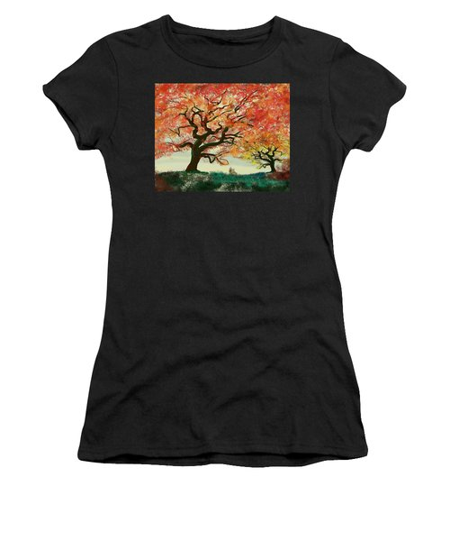 Fire Tree Women's T-Shirt (Athletic Fit)