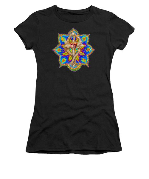 Fire Tree With Yhwh Women's T-Shirt (Athletic Fit)