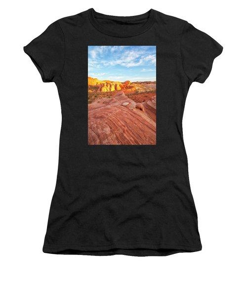 Fire Wave In Vertical Women's T-Shirt