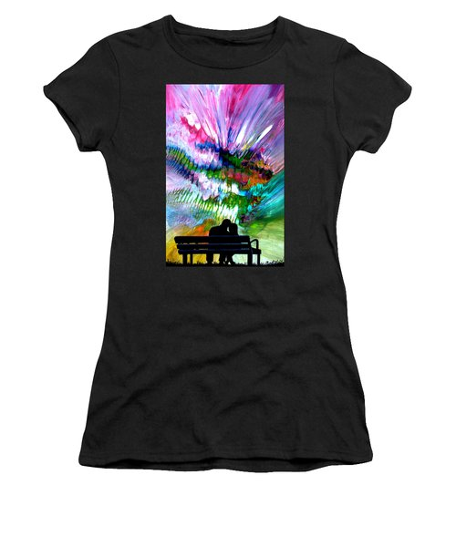 Fire Works In The Park Women's T-Shirt (Athletic Fit)