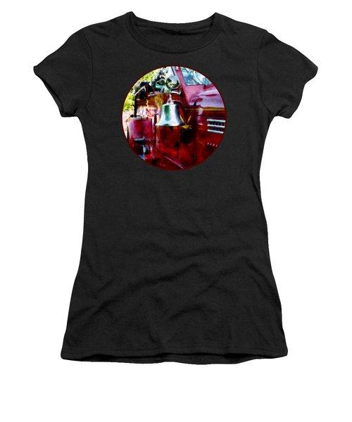 Fireman - Bell On Fire Engine Women's T-Shirt