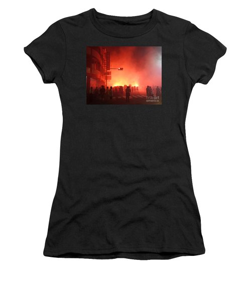 Fireworks During A Temple Procession Women's T-Shirt