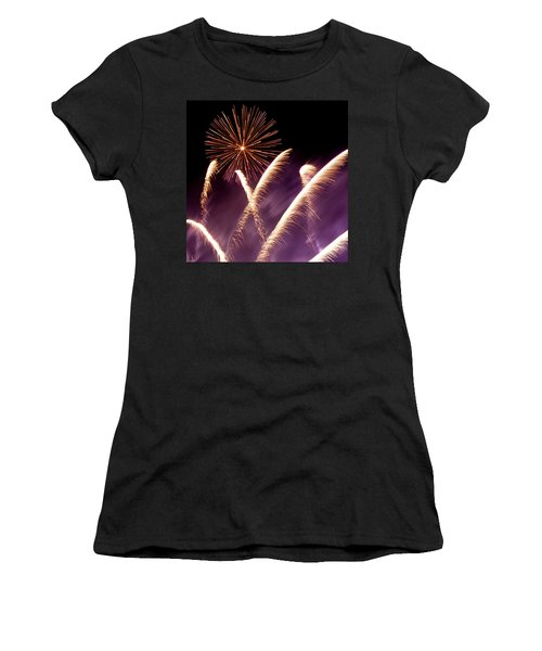Fireworks In The Night Women's T-Shirt (Athletic Fit)