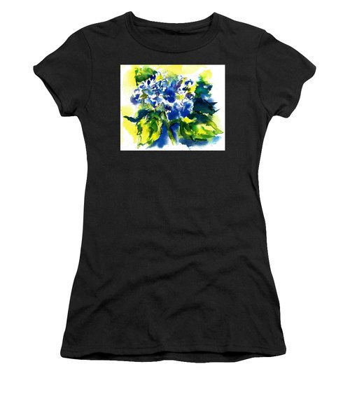 First Hydrangea Women's T-Shirt (Athletic Fit)
