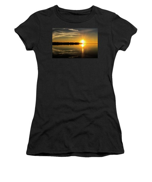 Women's T-Shirt (Athletic Fit) featuring the photograph First Key West Sunrise 2018 E by Bob Slitzan