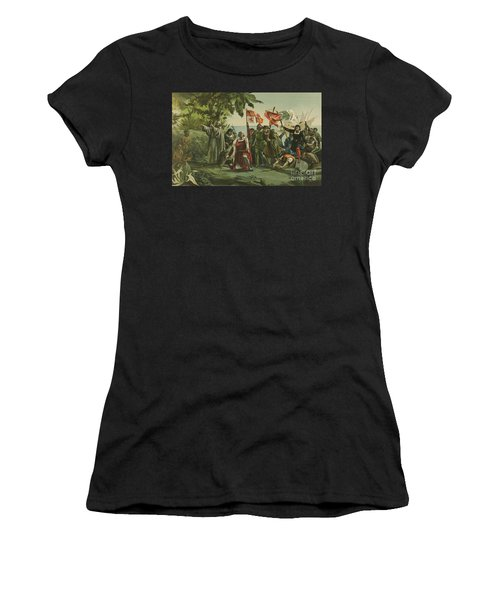 First Landing Of Columbus On The Shores Of The New World Women's T-Shirt