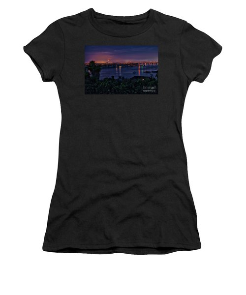 First Moonset Of 2018 Women's T-Shirt (Athletic Fit)