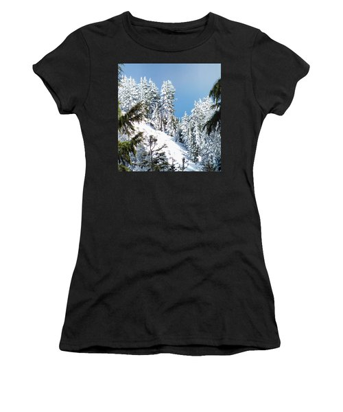First November Snowfall Women's T-Shirt (Junior Cut) by Wendy McKennon