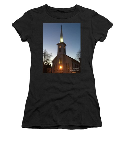 First Presbyterian Churc Babylon N.y After Sunset Women's T-Shirt