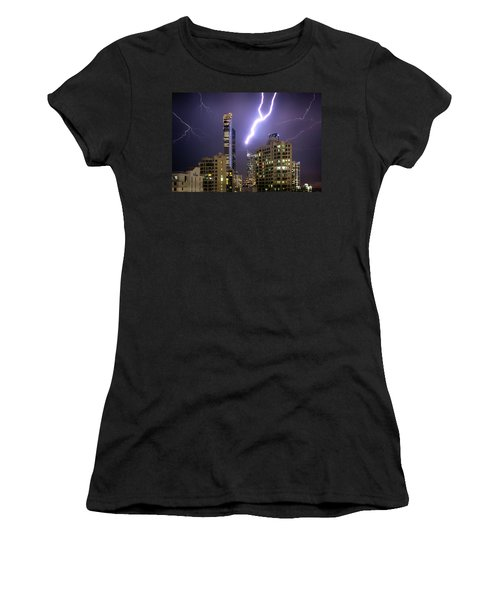 Women's T-Shirt (Athletic Fit) featuring the photograph First Strike by Az Jackson
