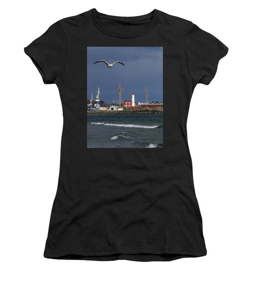 Women's T-Shirt (Athletic Fit) featuring the photograph Fisgard Photobomber by Rasma Bertz