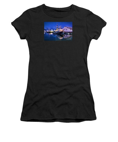 Fish Boats Women's T-Shirt (Athletic Fit)
