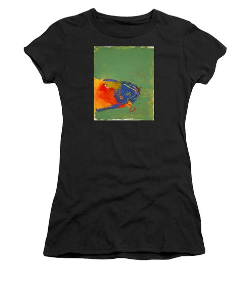 Fish Pondering The Anomaly Of Mans Anamnesis Women's T-Shirt (Athletic Fit)