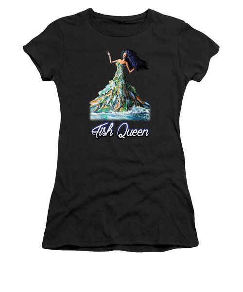 Fish Queen Women's T-Shirt (Athletic Fit)