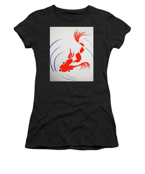 Fish Swish Women's T-Shirt (Athletic Fit)