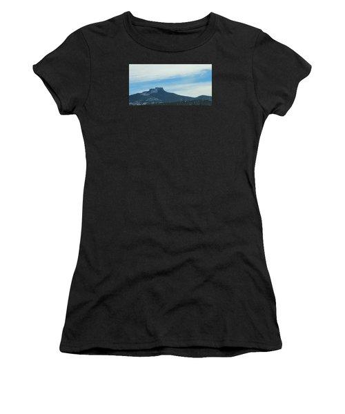 Fishers Peak Raton Mesa In Snow Women's T-Shirt