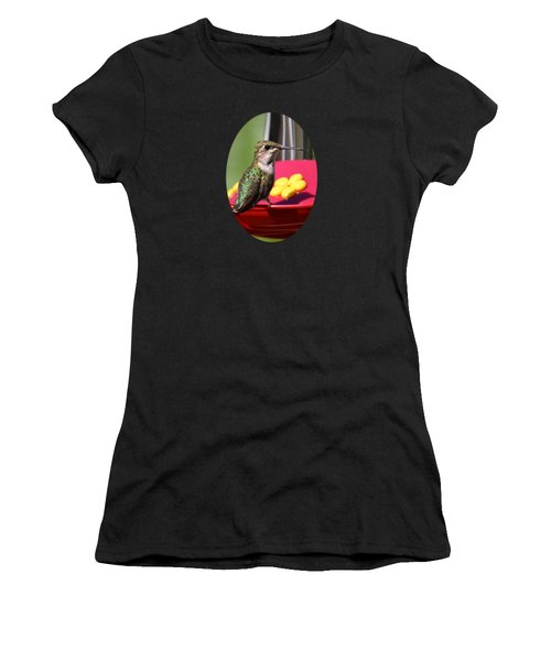 Fisheye Hummingbird Women's T-Shirt (Athletic Fit)