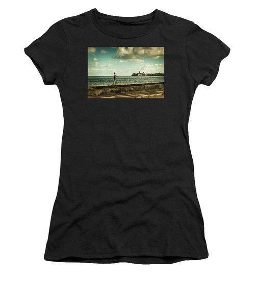 Fishing Along The Malecon Women's T-Shirt