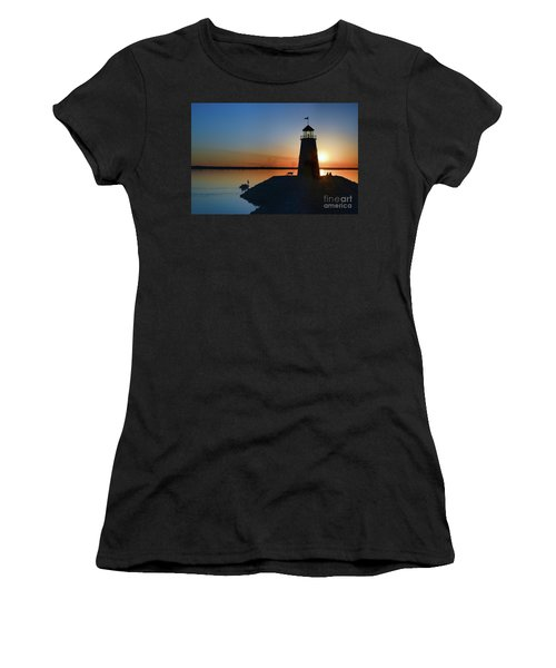 Fishing At The Lighthouse Women's T-Shirt