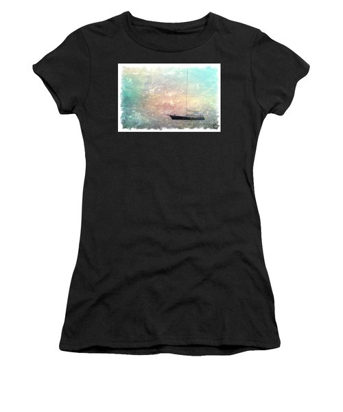 Fishing Boat In The Morning Women's T-Shirt (Athletic Fit)