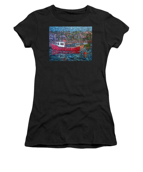 Fishing Boats - Beaver Harbour Women's T-Shirt (Athletic Fit)