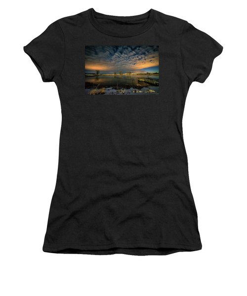 Fishing Hole At Night Women's T-Shirt (Athletic Fit)