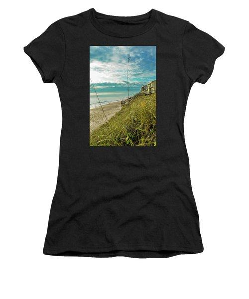 St Aug Beach Women's T-Shirt (Athletic Fit)
