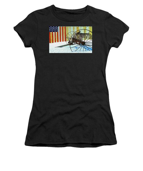 Flag And The Wheel Women's T-Shirt