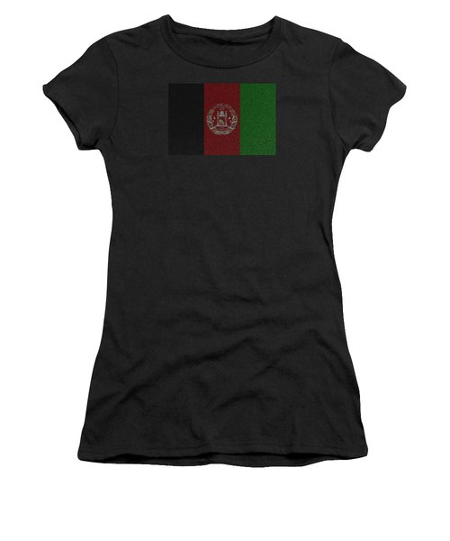 Women's T-Shirt (Junior Cut) featuring the digital art Flag Of Afghanistan by Jeff Iverson