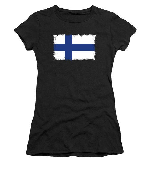 Flag Of Finland Women's T-Shirt (Junior Cut) by Bruce Stanfield